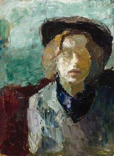 "huariqueje: "" Self Portrait - Elga Sesemann, 1945 Finnish,b. Oil on canvas, 73 x 54 cm. Art Works, Figure Painting, Collaborative Art, Artist, Painting, Female Art, Illustration Art, Portrait Painting, Oil Painting Portrait"