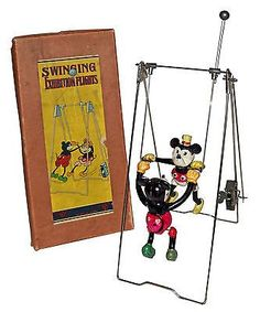 Super Nice Boxed 1930's Mickey & Minnie Mouse Acrobats- WORLDWIDE SHIPPING