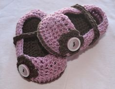 My little girl wore these and they were adorable! Crochet baby girl shoes by LEOyarn on Etsy, $19.00