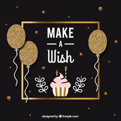 Elegant golden birthday background Free Vector