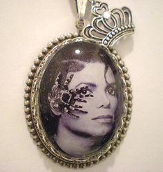 Michael Jackson One of a Kind Pendant. $14.00, via Etsy.