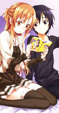 Sword Art Online, Asuna + Kirito, by matsuryuu