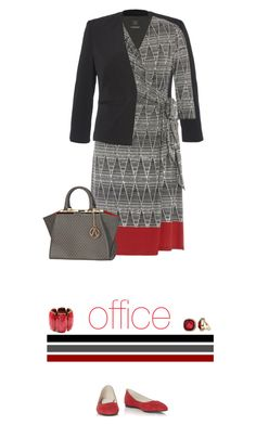 Office outfit: Black - Gray - Red by downtownblues on Polyvore