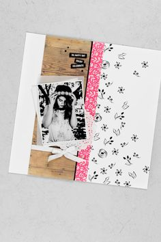 A rustic, boho and vintage style layout created with the Stampin & # Up! - Papier - Scrapbooking mit Stampin Up - Scrapbook Disney, Ideas Scrapbook, Paper Bag Scrapbook, Vintage Scrapbook, Scrapbook Designs, Scrapbook Sketches, Scrapbook Page Layouts, Baby Scrapbook, Scrapbook Cards
