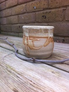Rustic Ceramic Jar by OddJobsandArt on Etsy