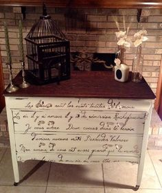 """So pretty! French Script hand painted Translation,. """"Kisses are the unspoken words of love. Where there is love there is forgiveness-I adore You. Two hearts in love need no words- My love for You is as grand as the world. You are the joy of my life. You are my love. I love You."""