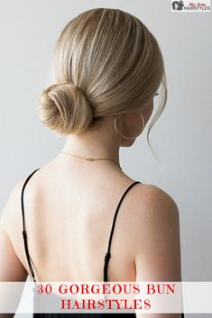 We are here to introduce you to the very versatile and absolutely gorgeous world of bun hairstyles and the many ways to wear your hair in a bun. Donut Bun Hairstyles, Wedding Bun Hairstyles, Braided Bun Hairstyles, Bun Hairstyles For Long Hair, Scarf Hairstyles, African Hairstyles, Straight Hairstyles, Low Bun Bridal Hair, Prom Hair Bun
