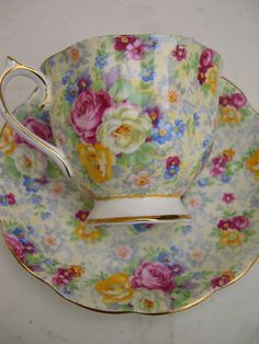 Chintz Tea Cup and Saucer