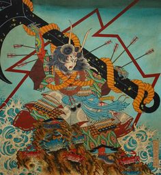 Great Painting By Timothy Hoyer, New York , Usa Japanese Art Prints, Japanese Art Styles, Traditional Japanese Art, Japanese Artwork, Japanese Tattoo Art, Japanese Painting, Samurai Artwork, Thailand Art, Harvard Art Museum