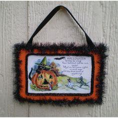 It's Halloween wall hanger « Halloween Artist Bazaar $20.00 Twilight Faerie www.shop.halloweenartistbazaar.com