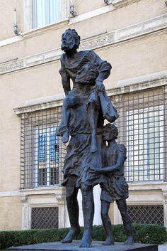 """Aeneas and Anchises"" by Sandro Chia, 2005 Palazzo Valentini, Via IV Novembre, Rome"