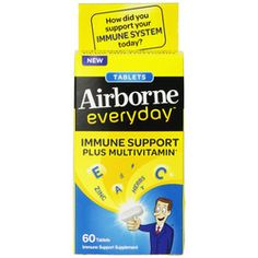 Airborne Everyday Multivitamin Tablets (1x60 Tablets)