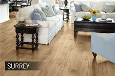 2017 Laminate Flooring Trends: Update your home in style with these laminate flooring trends that will stay in style the lifetime of your floor. Flooring Store, Best Flooring, Flooring Options, Flooring Ideas, Vinyl Sheet Flooring, Wood Laminate Flooring, Hardwood Floors, Tile Flooring, Hickory Wood Floors