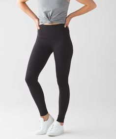 These no-fuss, versatile pants  were designed to fit like a  second skin—perfect for yoga  or the gym