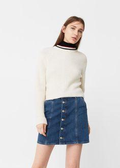 Fall's Best Denim For Every Style - Clementine Daily // button denim skirt via @mangofashion
