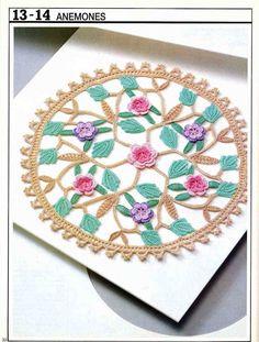Artes by Cachopa - Croche & Trico: Centrinho de mesa - Anemones