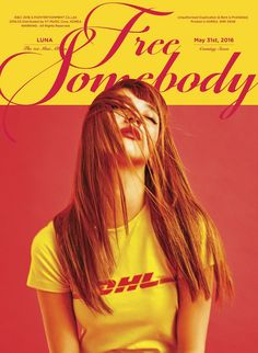 "LUNA of f(x) will be releasing her solo debut album ""Free Somebody"" on May. Please look forward to LUNA's mini album and check out the new teaser images :) Web Design, Graphic Design, Layout Design, Fx Luna, Culture Pop, Album Cover Design, 2ne1, Kpop Girl Groups, Kpop Girls"