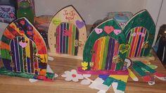 How To Decorate Fairy Doors Door Crafts, Love Fairy, House Doors, Fairy Doors, Fairy Houses, Bows, Pta, Inspiration, Painting