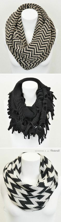 Beautiful and functional infinity scarves!