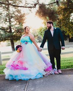 """821a8de492 We still can t get over  laurenvictoriakaplan s gorgeous rainbow dress.  Such a great honor to make the…"""" Offbeat BrideAffordable Wedding ..."""