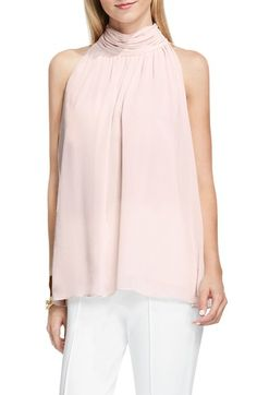 Vince Camuto Shirred Neck Halter Blouse available at #Nordstrom