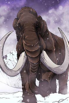 Woolly Mammoth by Ted Rechlin Jurassic World Dinosaurs, Jurassic Park World, Prehistoric World, Prehistoric Creatures, Short Faced Bear, Carnival Of The Animals, Godzilla, Extinct Animals, Art Walk
