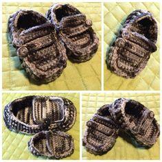 "Crochet ""Men's"" moccasins for little guys...just like Daddy!"