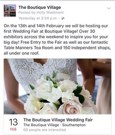 Wedding fair next week on the 13th!! Don't miss it ❤️
