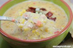 Weeknight Cheesy Corn Chowder