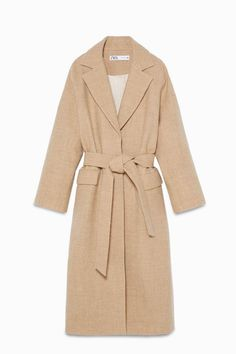Zara Reissued Their Pieces From the '90s and '00s | Who What Wear Knitted Coat, Wool Coat, Online Zara, Tailored Coat, Suede Coat, Belted Coat, Embroidered Tunic, Outerwear Women, Who What Wear