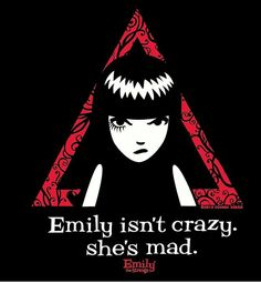 "{Comics} Emily the Strange. ""Emily isn't crazy she's mad""  #EmilytheStrange #comic"