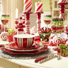 Make your Christmas dinner a little more merry and bright with the sweet, festive touch of Pier 1's Christmas Stripes Dinnerware.