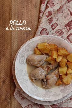 Pollo a la cerveza {by Paula, Con las Zarpas en la Masa}