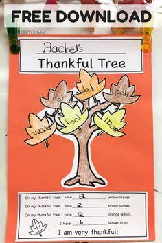 Thankful Tree Free D