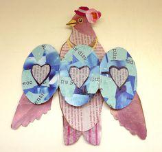 Bird Fold Out Wing Cards by Artist in LA LA Land