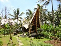 Бамбуковый эко-комплекс Green Village на острове Бали, Индонезия
