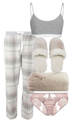A fashion look from February 2017 featuring cotton pajamas, bralette lingerie and Fleur of England. Cute Lazy Outfits, Chill Outfits, Casual Winter Outfits, Cute Cowgirl Outfits, Cute Sleepwear, Pajama Outfits, Really Cute Outfits, Kpop Fashion Outfits, Polyvore Outfits