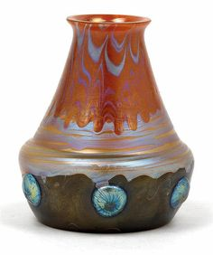 A small Lötz Witwe vase,