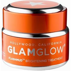 Glamglow Flashmud 50 Ml (110 BAM) ❤ liked on Polyvore featuring beauty products, skincare, face care, facial care, hygiene, orange, womens-fashion, exfoliating mask and brightening mask