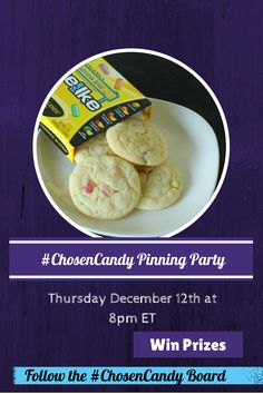 You're invited to our #ChosenCandy Pinterest Party!!  Join us Thursday at 8pm and win prizes!  Comment below to let us know you will be joining us.