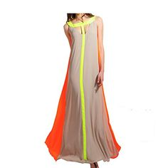Chen Women Summer Sleeveless Slim Big Hem Strap Dress Beach Dresses M *** Be sure to check out this awesome product.
