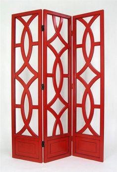 nan ka room divider in red beautiful ...