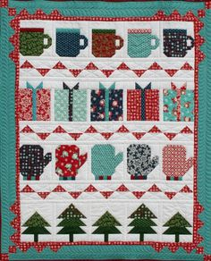 my favorite things quilt by deb strain for moda kit at old south fabrics christmas