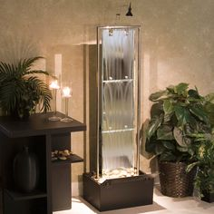 Indoor Water Fountains for Home Owners: Imagine the subtle soothing mood set by a floor water fountain. water fountains interior design Indoor Water Fountains for Home Owners water fountains ideas Indoor Waterfall Wall, Indoor Waterfall Fountain, Indoor Wall Fountains, Indoor Fountain, Water Fountains, Fountain Ideas, Feng Shui, Water Fountain For Home, Indoor Water Features