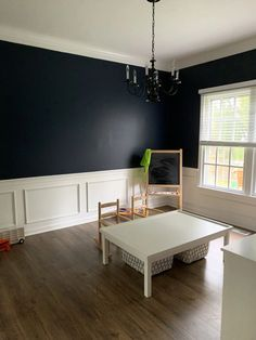 This strong midnight blue hue is dark and alluring like an infinite, moonlit sky. Best Blue Paint Colors, Best Wall Colors, Nursery Paint Colors, Most Popular Paint Colors, Kitchen Paint Colors, Paint Colors For Living Room, Blue And Copper Living Room, Midnight Blue Color, Gallon Of Paint