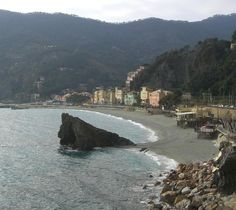 Featuring Monterosso al Mare, the biggest of the Cinque Terre cities. I'm going to Little Mermaid it on that rock right in the middle.