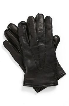 BOSS HUGO BOSS 'Haindt' Leather Gloves available at #Nordstrom