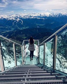 "Skywalk ""Stairs to nowhere"" - Dachstein, Austria..."