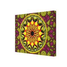 Mandala Manifestação - Impressão de tela em canvas medindo 60 x 45 cm - R$ 351,95