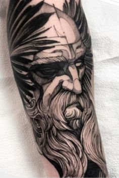 Tattoos 3d, Body Art Tattoos, Tattoo Odin, Future Tattoos, Tattoos For Guys, Tattoos Lindas, Tribal Wolf Tattoo, Text Tattoo, Nordic Tattoo